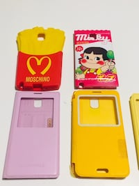 Note 3 cases flip phone back Moschino French fries, Milky Toronto, M1P
