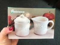 Ambiance creamer and sugar White ceramic Great steal Dollard-des-Ormeaux, H9G 2K1