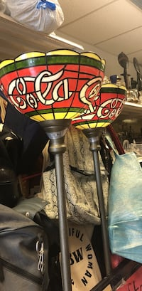 Two matching Coca Cola lamps  Coram, 11727