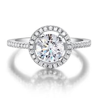 1.25 CT Equivalent Halo Pave Ring | Toronto Fine Jewelry 554 km