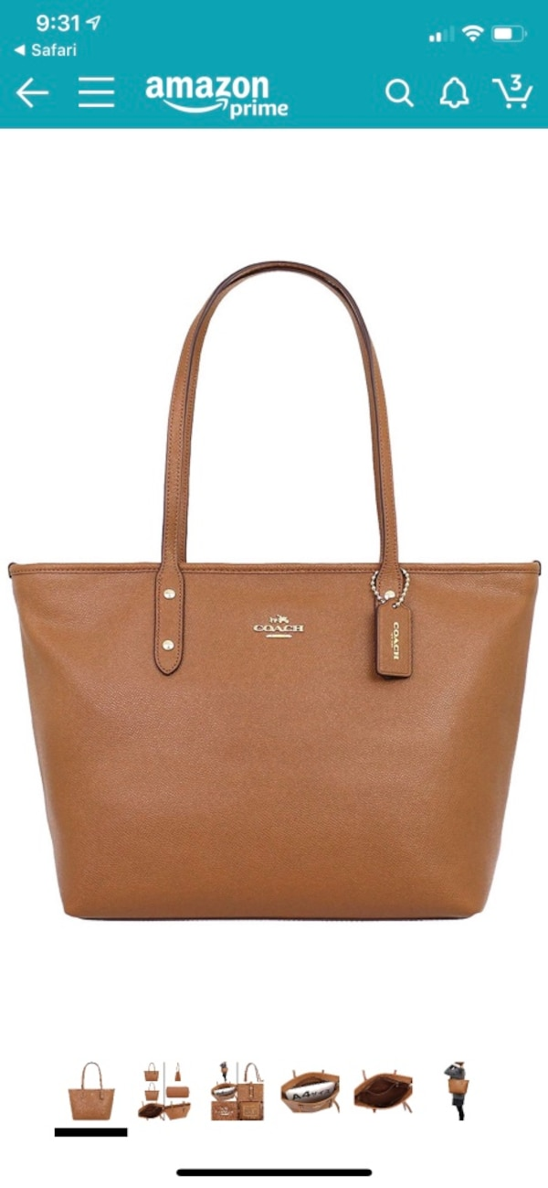 Coach city zip tote in saddle&cross grain leather 6adf1fc0-d278-4d2e-b14a-04bcb9316ab6
