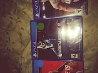 three assorted-title Sony PS4 cases Washington, 20011