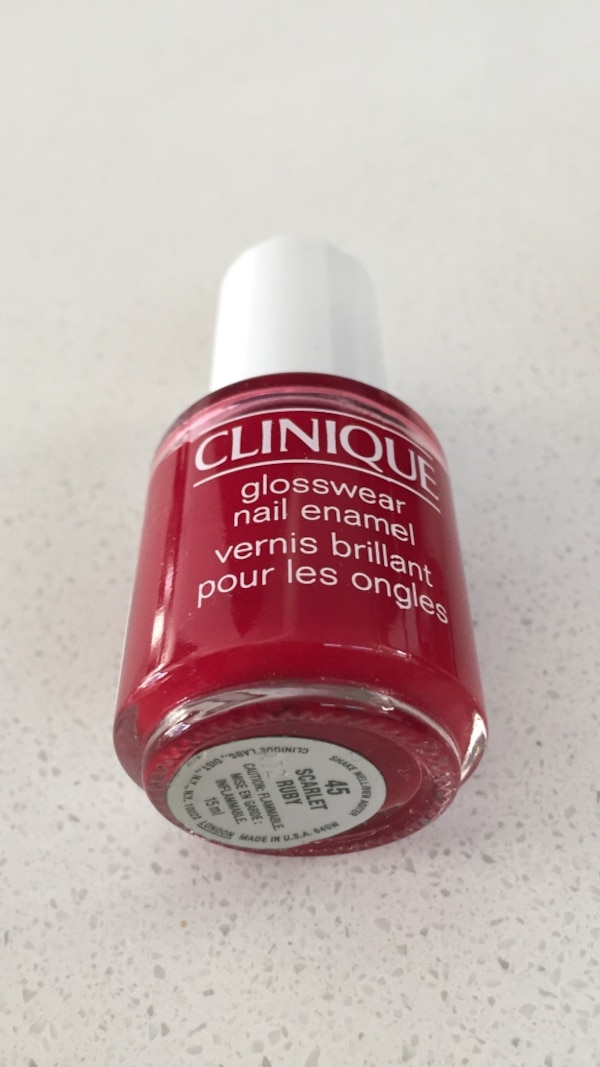 Red Clinique glosswear nail polish brand new