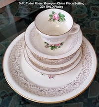 VINTAGE – Tudor Rose / Georgian China - 22kt GOLD Toronto