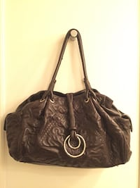 Large Sondra Roberts Brown Tote Handbag/Purse Darien, 06820