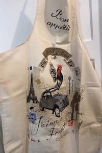 Traditional French apron made in France 100% cotton brand new