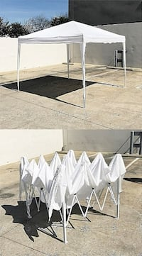 New $80 White color 10x10 ft EZ Pop Up Canopy Outdoor Sun Shade, Carrying Bag South El Monte