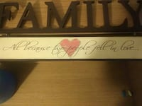 all because two people fell in love... text wall decor Monaca, 15061