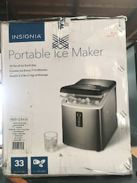 INSIGNIANS-IMP33S9PORTABLE ICE MAKER 33 LBS 3 SIZES STAINLESS STEEL Garden Grove