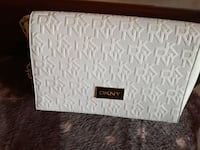 DKNY, white sling bag in good condition