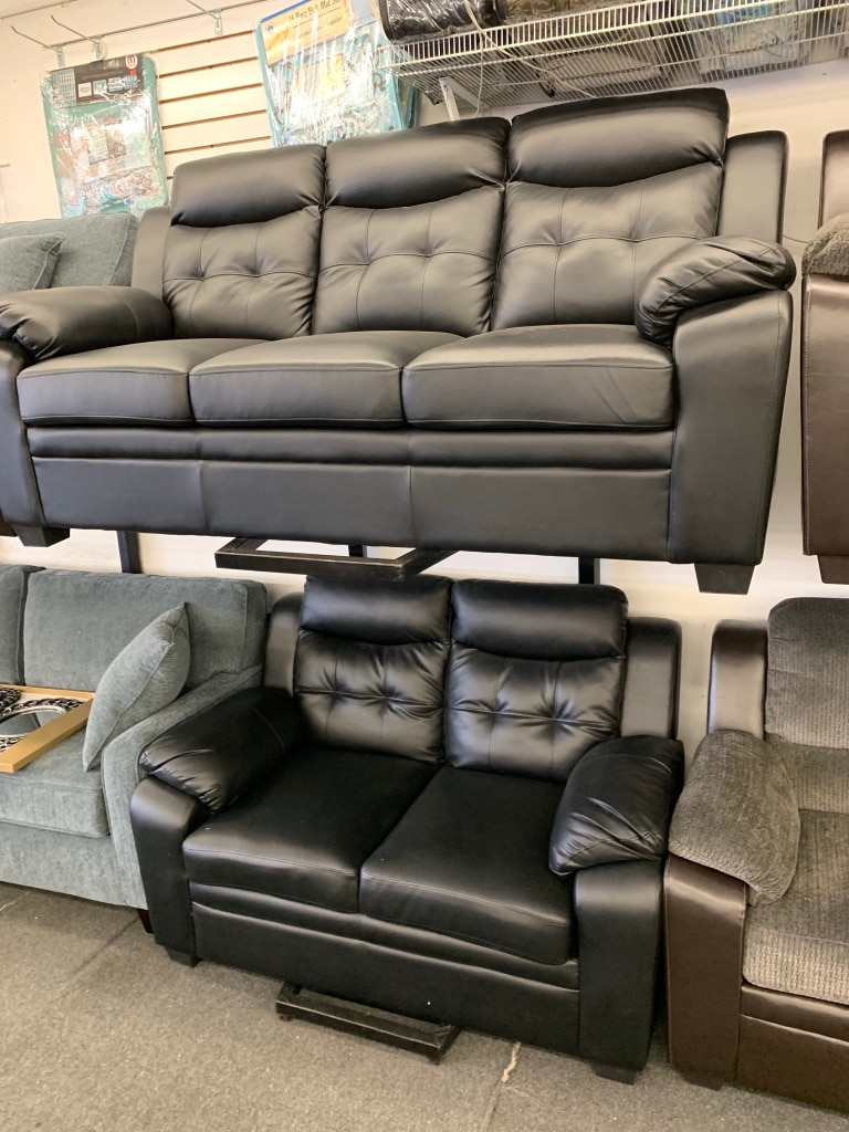 used gray leather 3 seat sofa for sale in chicago letgo rh us letgo com