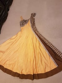 Yellow and Brown Anarkali Surrey, V3S 7W7