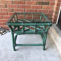 Glass & Wicker Side Table Mississauga
