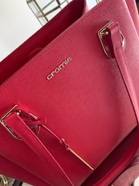 100% Italian Red Leather Handbag Vienna, 22182