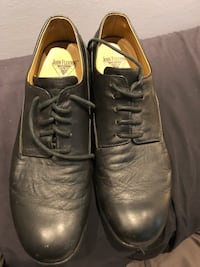 Fluevog wifi sz 12 black leather men's shoes
