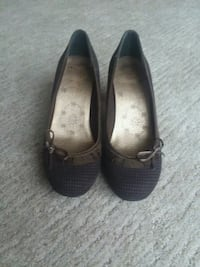 pair of black leather flats Martinsburg