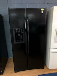 GE black side by side refrigerator