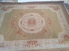 French victorian style aubusson handmade wool rug