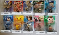 Nintendo Amiibo Collection of 10 including Marth, Captain Falcon, Villager - NEW IN BOX/FIRST PRINT LOSANGELES