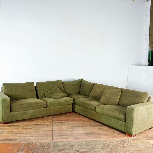 Room & Board Contemporary Upholstered L Form Sectional Sofa (1021925)
