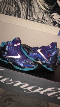 pair of purple-and-teal Nike basketball shoes Brunswick, 21758