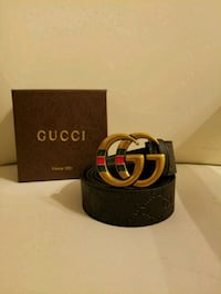 black and red Gucci leather belt with box Royal Palm Beach, 33411