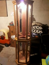 brown wooden framed glass display cabinet Winnipeg, R2K 1P4