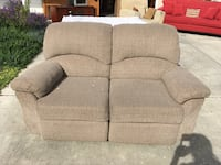 gray fabric 2-seat recliner Modesto, 95350