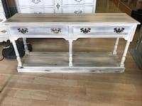 Wooden 2 Drawer Sofa Table