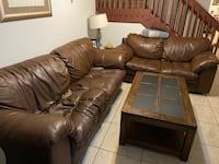 Leather couch & love seat Coconut Creek, 33073
