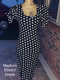 black and white polka-dot dress Jacksonville, 28540