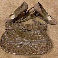 Nine West Croc embossed purse and shoes Jacksonville, 32225