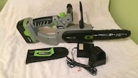 Earth wise 8inch battery powered chainsaw.