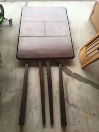 Brown wooden  convertible table  Surrey, V4N 5H5
