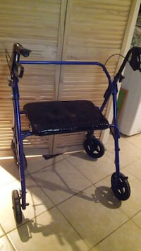 black and blue folding wheeled walker Chicago, 60639