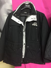 giacca con zip The North Face in bianco e nero 7686 km