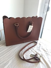 Brand new Asos scallop brown leather tote bag Toronto, M1T 0A4