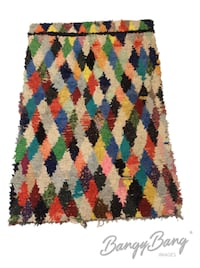 Vintage Materials used to make this Awesome RUG 4X6 Frederick