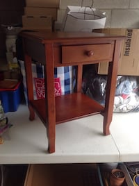 Wood side table with small drawer Burlington, L7L 6K8