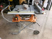 Ridged table saw with stand  Edmonton, T6L 5A9