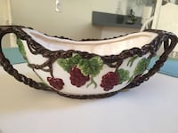 brown and green floral ceramic bowl Anaheim, 92808