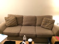 Light brown couch in good condition from cat friendly home. Moving  Bowie, 20715