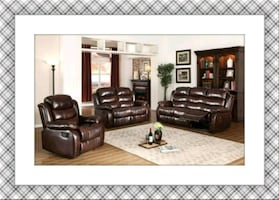 Burgundy Recliner Sofa and Loveseat new