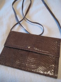 Clutch purse, in form of wallet, made from real snake skin  - New - from India TORONTO