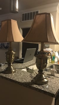 Set of two bronze and gold lamps Mooresville, 28117