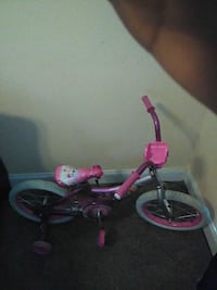 children's pink training bicycle