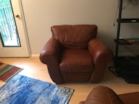 Brown leather chair Alexandria, 22314