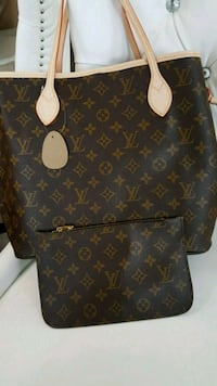 brown monogram Louis Vuitton leather tote bag Mississauga, L5T 2L8