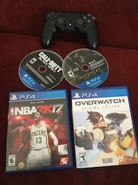 Ps4 controller and 4 games Tampa, 33613