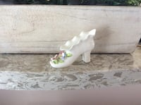Miniature Bone China Floral Shoe Courtice